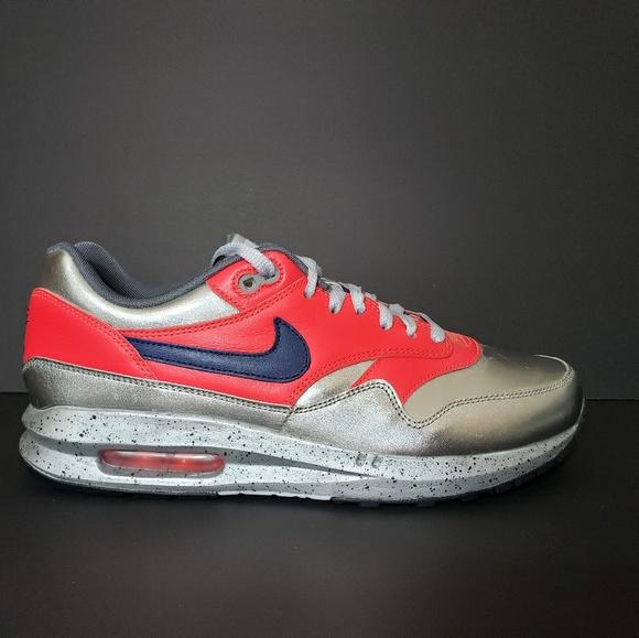 best service 30225 1f2a5 Nike Air Max 1 ID Metallic Silver Men s 9.5 Shoes.  M 5b94159a7386bc29be9a5619